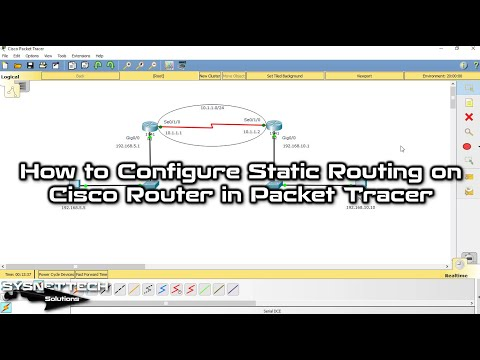 ✅ How to Configure Static Routing in Cisco Packet Tracer | Static Routing Tutorial | SYSNETTECHS