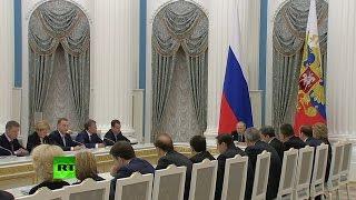 Путин проводит заседание Совета по стратегическому развитию и приоритетным проектам