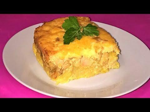 Запеканка Мечта мужа. Очень вкусная и нежная. Запеканка с курицей и грибами под сырной корочкой.