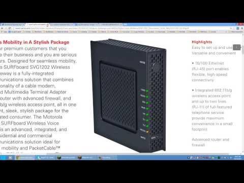 [Tutorial] Router SVG1202 Motorola - Configurando a Rede Sem Fio