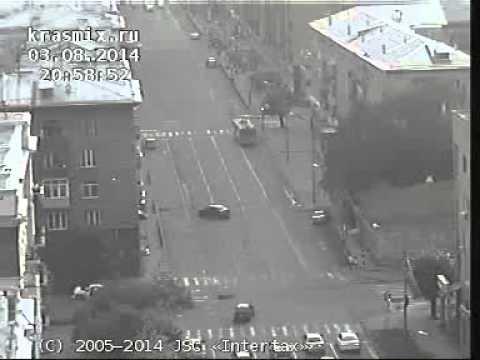 ДТП на перекрестке ул. Ленина и Горького в Красноярске