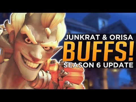 Overwatch: HUGE Junkrat, Widow & Orisa BUFFS! - Season 6 Updates!