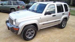 2004 JEEP LIBERTY 3.7L V6 start up, walk around and review