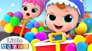 Balloon Car Race Song | Nursery Rhymes & Kids Songs - Little Angel