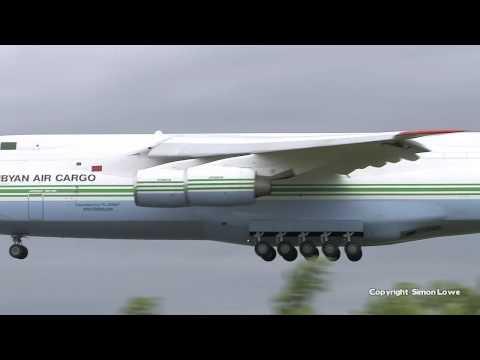 Libyan Air Cargo Antonov 124, 5A-DKN. Landing 23R.