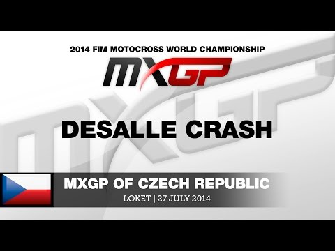 Mxgp Of Czech Republic 2014 Desalle Crash - Motocross video