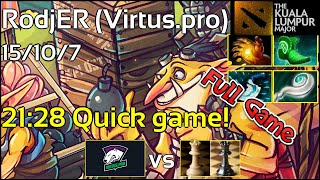 Support Virtus.pro.RodjER - CIS Qualifiers - Full Game Techies