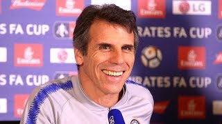 Gianfranco Zola Full Pre-Match Press Conference - Chelsea v Manchester United - FA Cup