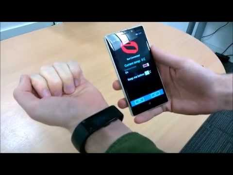 Microsoft Band hackathon demonstrations