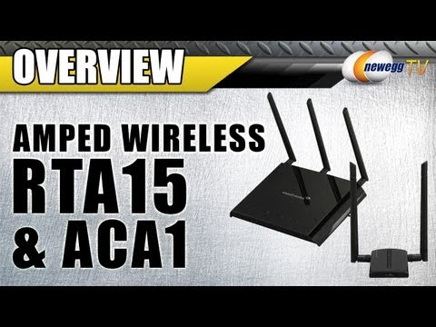 Amped Wireless RTA15 High Power 700mW Dual Band AC1200 Wi-Fi Gigabit Router Overview - Newegg TV