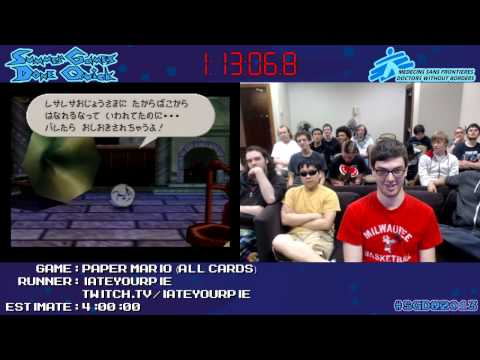 Paper Mario [N64] :: Speed Run (3:33:03) (All Cards) by iateyourpie #SGDQ 2013