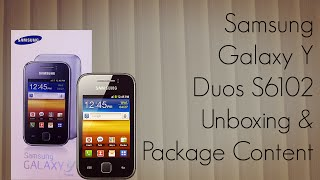 Samsung Galaxy Y Duos S6102 Phone Unboxing & Package Content