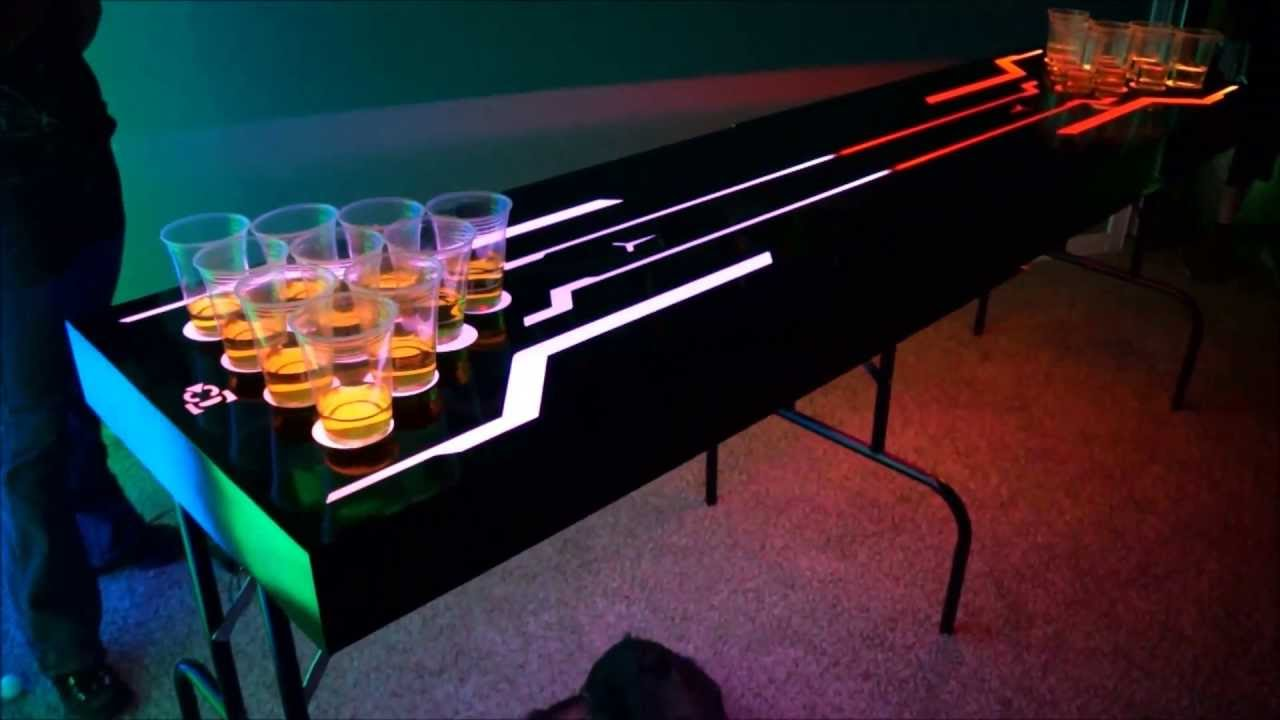 Led Lighted Beer Pong Table Contest Giveaway Youtube