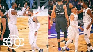 LeBron, Kyrie, KD and Russell show chemistry in All-Star win | SportsCenter | ESPN