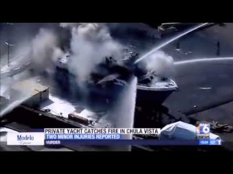 Private yacht burns in Chula Vista