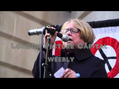 Vote out the Trident rally outside the Ministry Of Defence in London