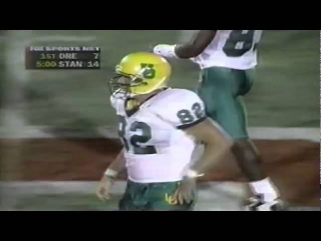 Oregon TE Blake SPence 23 yard catch vs. Stanford 9-27-1997