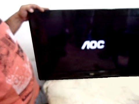 TV AOC: Mostrava apenas o Logo da marca ao ligar: Como foi resolvido o problema!