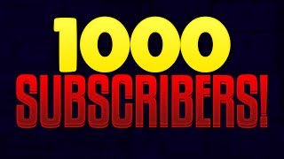 1K Subscriber Special | Thank You For 1,000 Subscribers On YouTube! | Thank You Video |