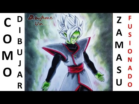 Como Dibujar a ZAMASU FUSIONADO / BLAMASU / BLAMAZU  DRAGON BALL SUPER. HOW TO DRAW ZAMAS  CAP 64