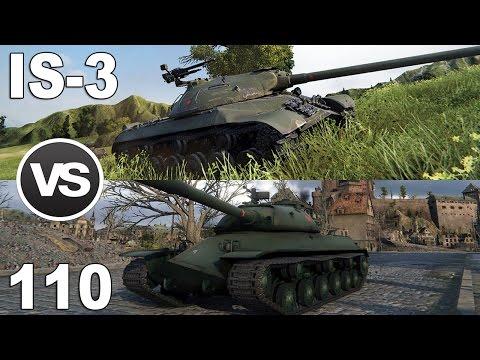 IS-3 vs 110 - Najlepsze czołgi ciężkie 8 poziomu - World of Tanks