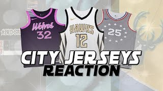 REACTING TO ALL THE NEW NBA CITY JERSEYS! | KOT4Q