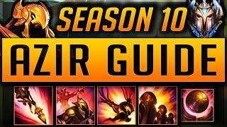 AZIR GUIDE SEASON 9 (2019) ULTIMATE GUIDE [BEST RUNES, ITEMS, TIPS, GAMEPLAY, MATCHUPS] | Zoose