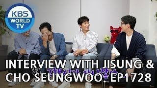 Interview with Jisung & Cho Seungwoo [Entertainment Weekly/2018.09.10]