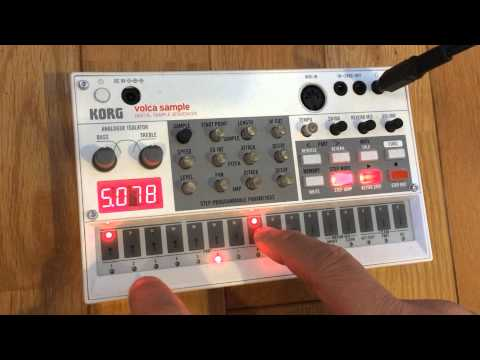 Korg Volca Sample Demo #02 -real Time Track Making- video