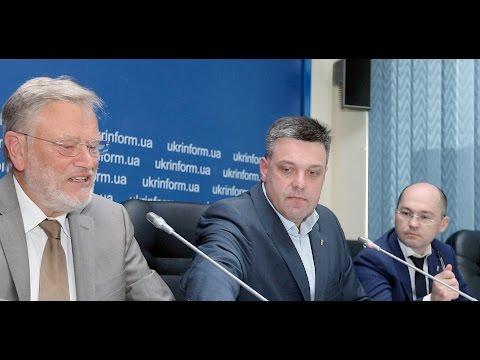 Прес-конференція Олега Тягнибока, Ульріха Буша та Олега Бондарчука щодо захисту іміджу України від московської пропаганди в Європі
