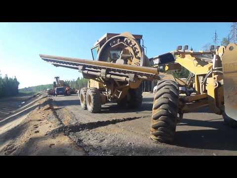 Автогрейдер Caterpillar 140K подготовка к работе
