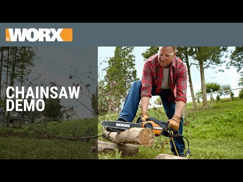 Worx Chainsaw Demo