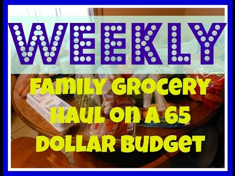 WEEKLY FAMILY GROCERY HAUL ON A 65 DOLLAR BUDGET