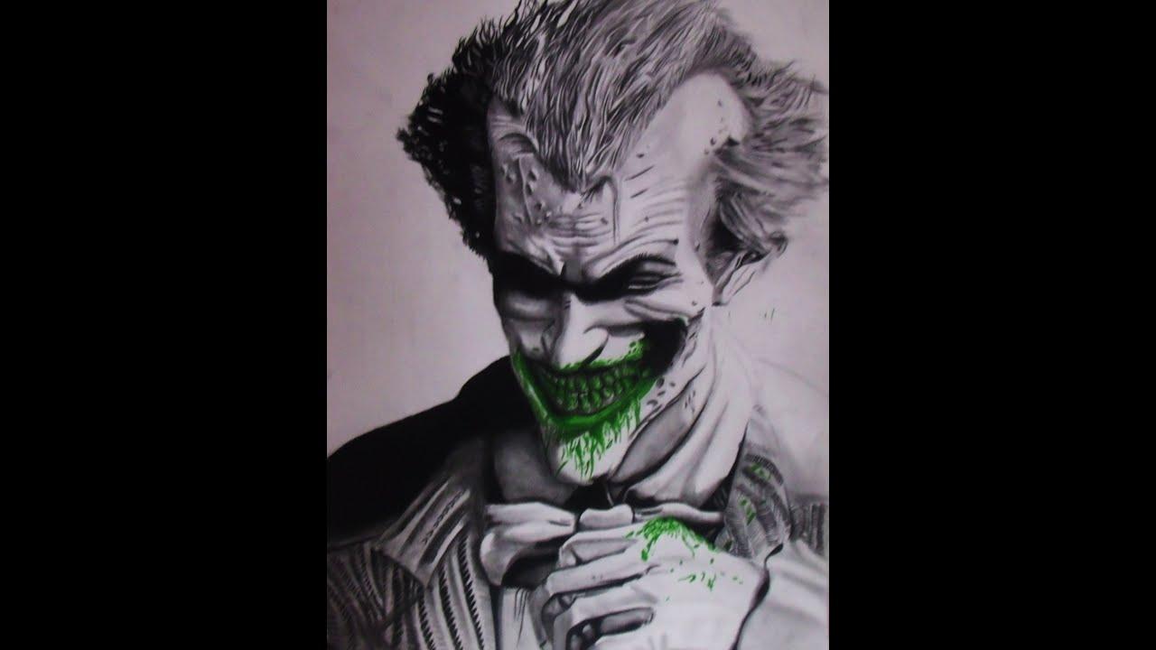 Cool Joker Drawings Joker Speed Drawing Arkham