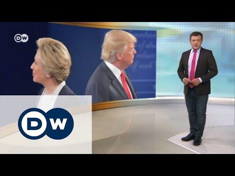 Фактор Путина в борьбе Клинтон и Трампа - DW Новости (01.11.2016)