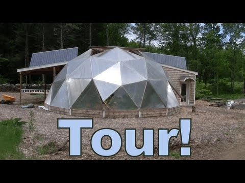 GRAND TOUR - Aquaponic Geodesic Dome Greenhouse