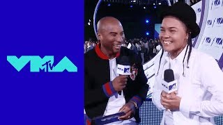 Young M.A Talks VMA Nomination w/ Charlamagne Tha God | 2017 VMA Pre-Show | MTV