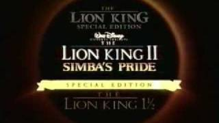 Disney's The Lion King 2: Simbas Pride Special Edition Trailer