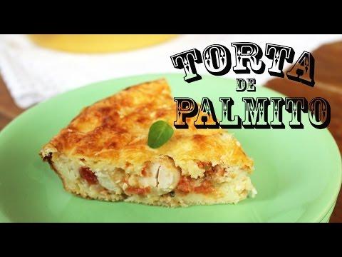 TORTA LIGHT DE PALMITO LIQUIDIFICADOR
