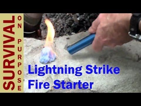 Lightning Strike Firestarter- Ferro Rod on Steroids - Fire Steel Tips, Tricks and Reviews