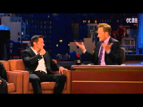 "hugh jackman impersonates on ""conan"""