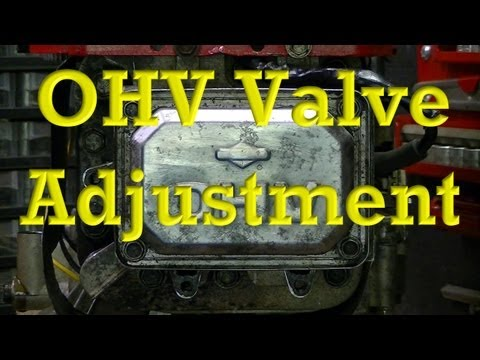 How to Adjust Valves on OHV Small Engines (Valve Clearance / lash)