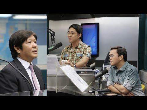 Sen. Bongbong Marcos -- DZMM