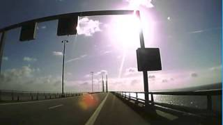 The Great Belt Bridge, From Denmark to Sweden by car