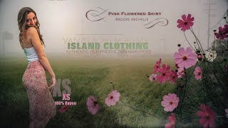 Vanilla Palm Films Clothing - Pink Flowered Skirt XS - Model Brooke Michelle