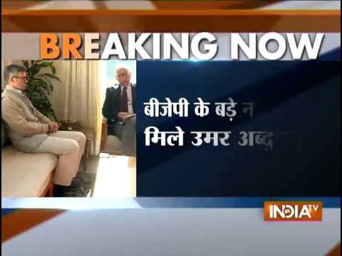 Omar Abdullah meets BJP chief Ram Madhav, Arun Jaitley in Delhi