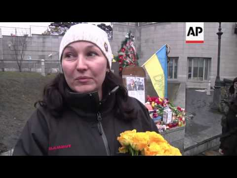 Morning scenes in Independence Square after former PM Tymoshenko released from prison