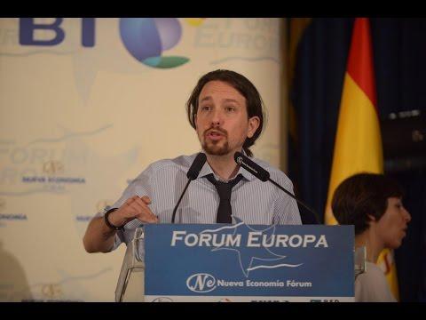 Discurso histórico de Pablo Iglesias en el Fórum Europa