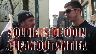 Squatting Slav TV:  Antifa cleaned out by Soldiers of Odin