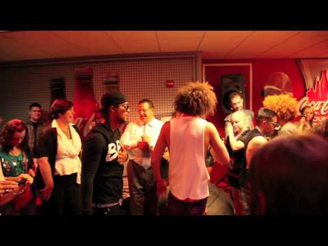 LMFAO (Party Rock Anthem & Im Sexy and I Know It) Live at Kiss-FM studio and Michigan Ave.